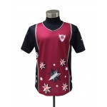 V-Neck Sublimation Print Jersey
