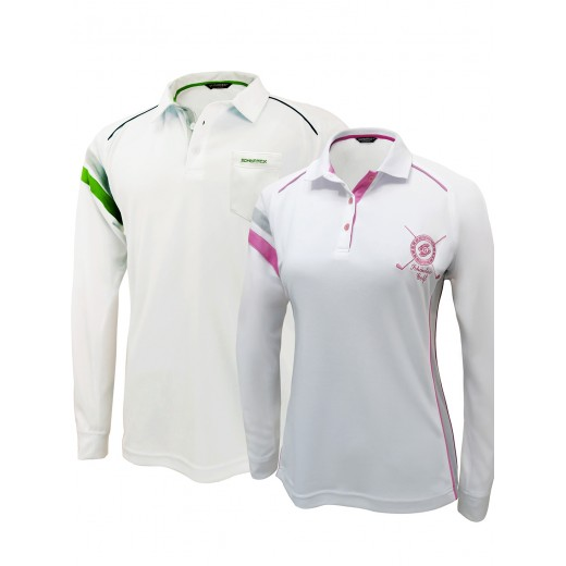 Golf Couple Set 2: Bamboo Charcoal Longsleeve Polo shirts