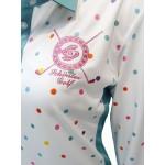 Donut Ladies Bamboo Charcoal Longsleeve Polo Shirt